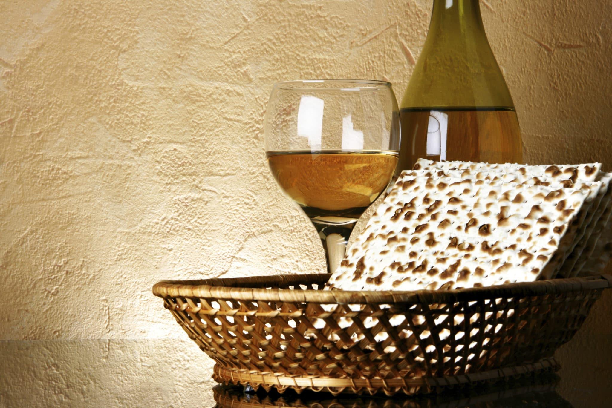 wine and matzoh