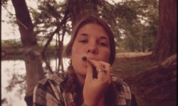 girl smoking marijuana