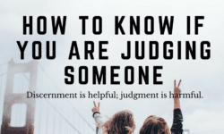 how to know if you are judging someone