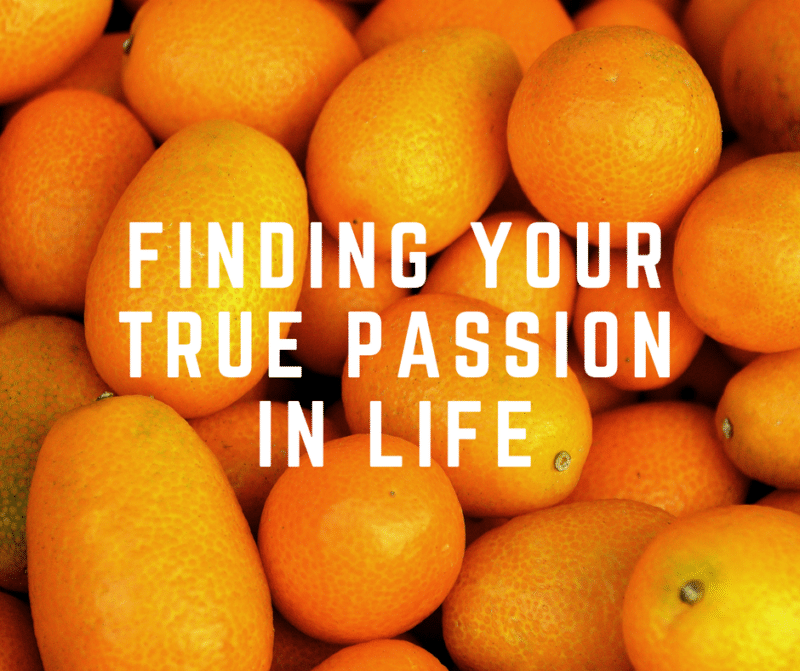 finding your true passion in life